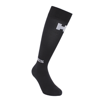 PRO Compression Sock Black/Silver - Herzog - Running - Injuries - Recovery