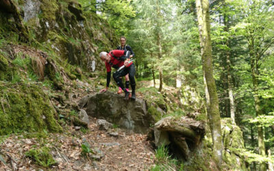 Vader en dochter op weg naar de Trans Alpine Run